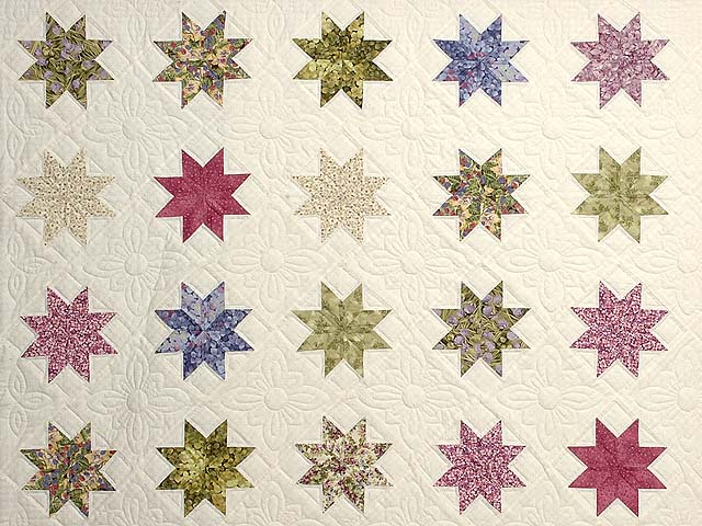 Lavender and Multi Variable Stars Quilt Photo 3