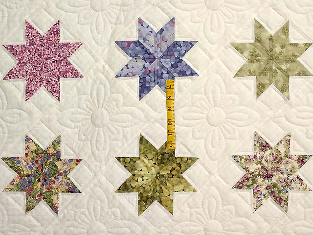 Lavender and Multi Variable Stars Quilt Photo 4