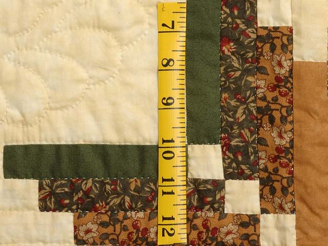 Green Brown and Tan Nordic Star Quilt Photo 5