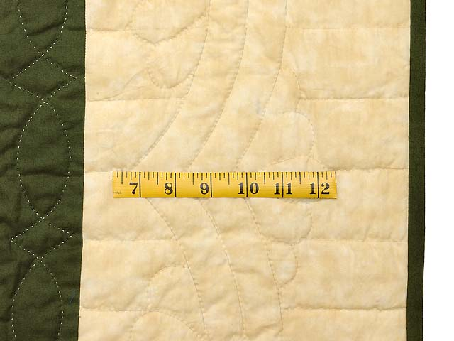 Green Brown and Tan Nordic Star Quilt Photo 6