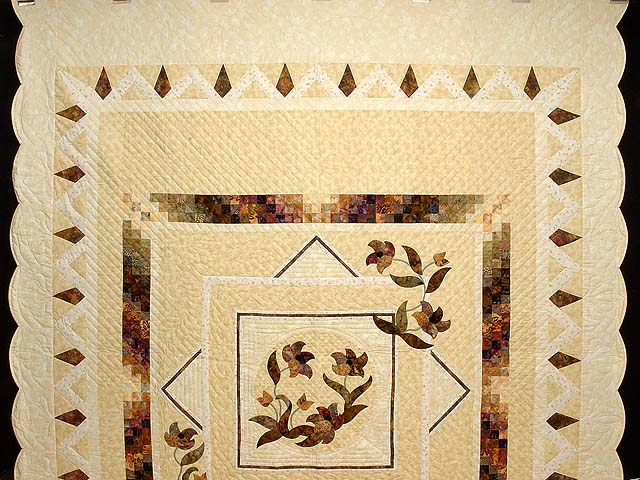 Neutrals Gold and Plum Rainbow Reflection Quilt Photo 2