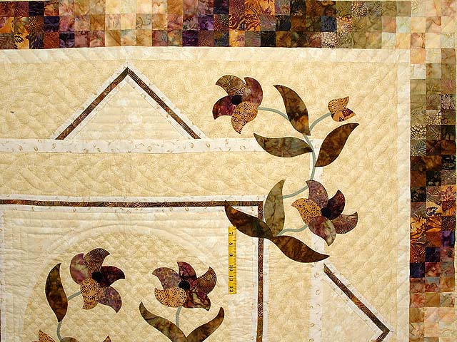Neutrals Gold and Plum Rainbow Reflection Quilt Photo 4