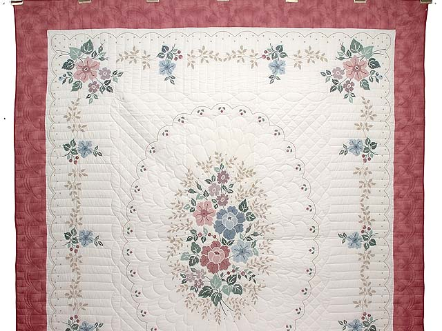 Cross Stitch Floral Bouquet Quilt Photo 2