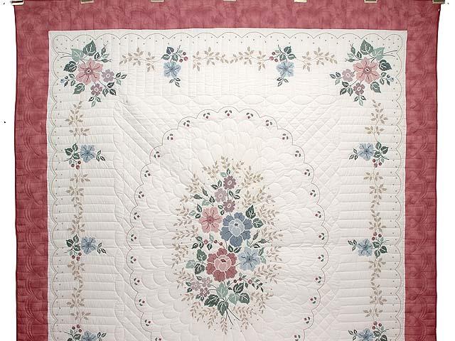 Cross Stitch Floral Bouquet Quilt Photo 2