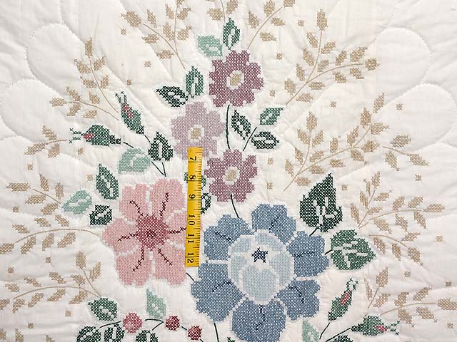 Cross Stitch Floral Bouquet Quilt Photo 4