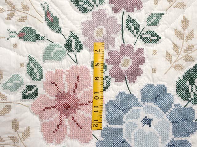 Cross Stitch Floral Bouquet Quilt Photo 5