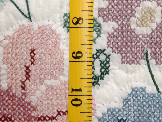 Cross Stitch Floral Bouquet Quilt Photo 6