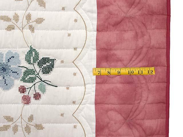 Cross Stitch Floral Bouquet Quilt Photo 7