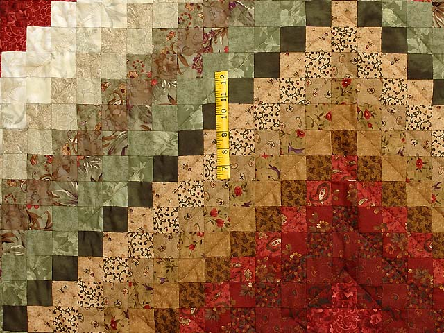 Green Paprika and Sage Color Splash Quilt Photo 4