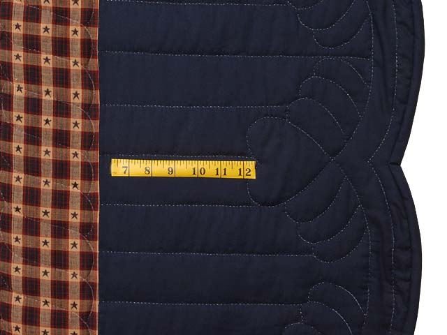 King Navy Burgundy and Tan Lone Star Log Cabin Quilt Photo 7