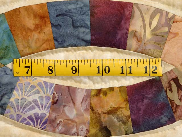 King Hand Painted Double Wedding Ring Quilt Photo 6