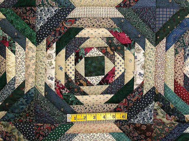 Green And Earth Tone Pineapple Quilt Photo 5