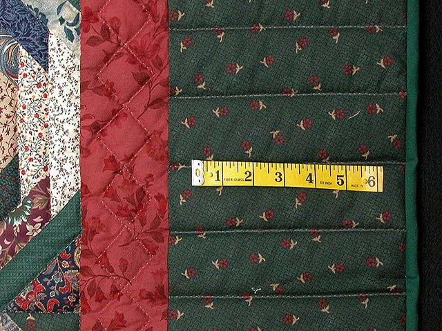 Green and Earth-tone Pineapple Quilt Photo 6