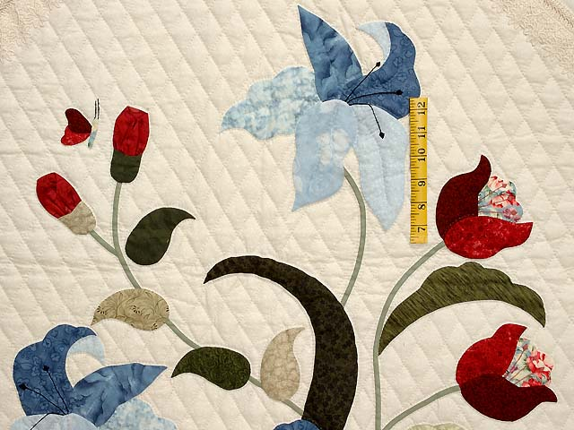 King Blue and Rose Petal Showcase Quilt Photo 4