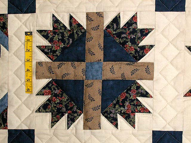 Navy and Beige Patchwork Sampler Quilt Photo 5