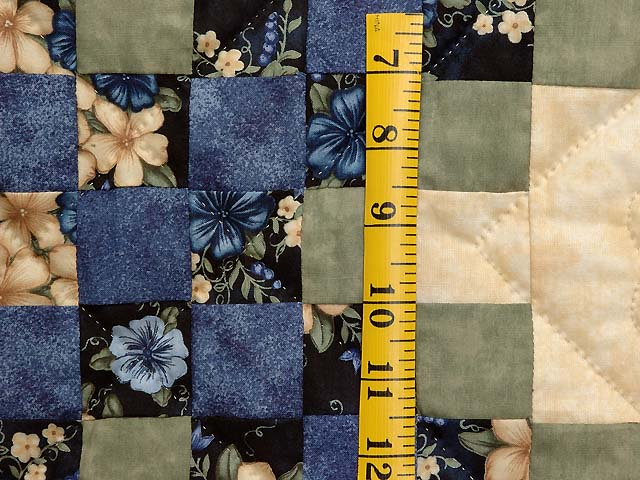 Blue Green and Tan Triple Irish Chain Quilt Photo 5