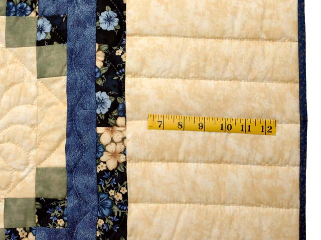 Blue Green and Tan Triple Irish Chain Quilt Photo 6