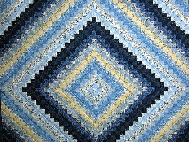 Blue and Yellow Color Splash Quilt Photo 3