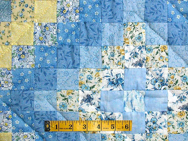 Blue and Yellow Color Splash Quilt Photo 4