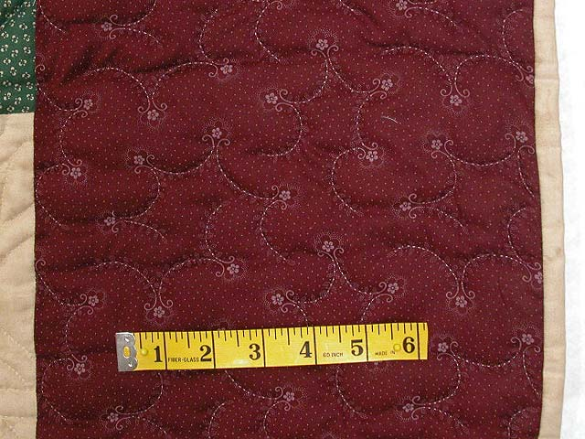 Burgundy and Multicolor Nine Patch Chain Quilt Photo 6