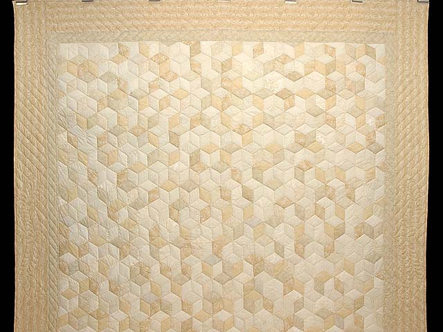 All Neutrals Tumbling Blocks Quilt Photo 2