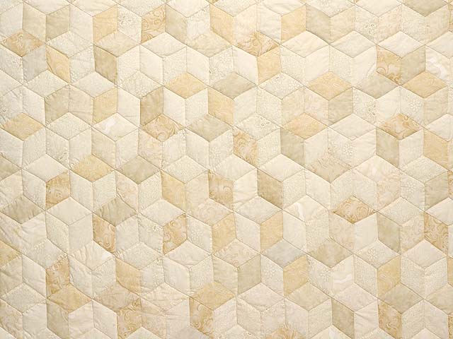 All Neutrals Tumbling Blocks Quilt Photo 3