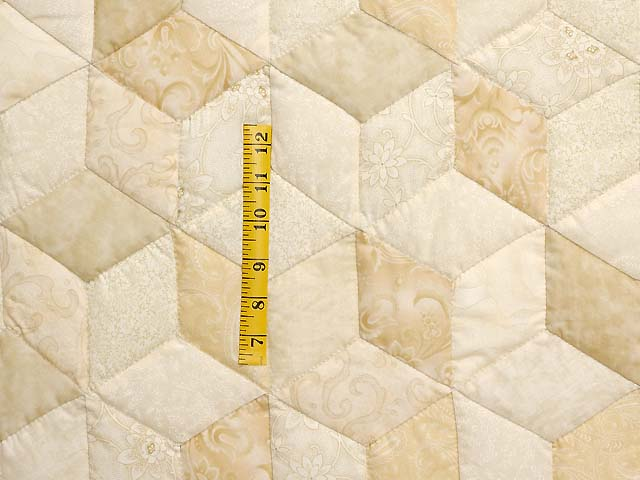 All Neutrals Tumbling Blocks Quilt Photo 4