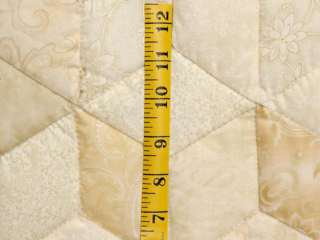 All Neutrals Tumbling Blocks Quilt Photo 5