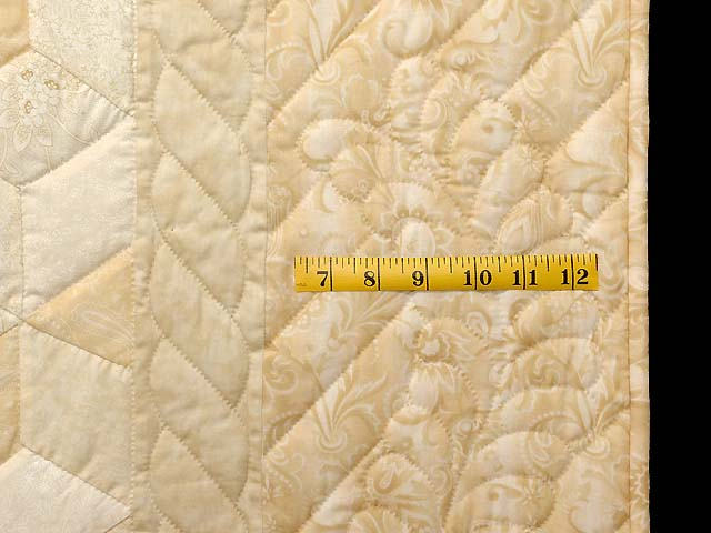 All Neutrals Tumbling Blocks Quilt Photo 6