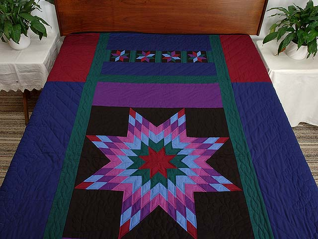 Twin Amish Lone Star Quilt Photo 1