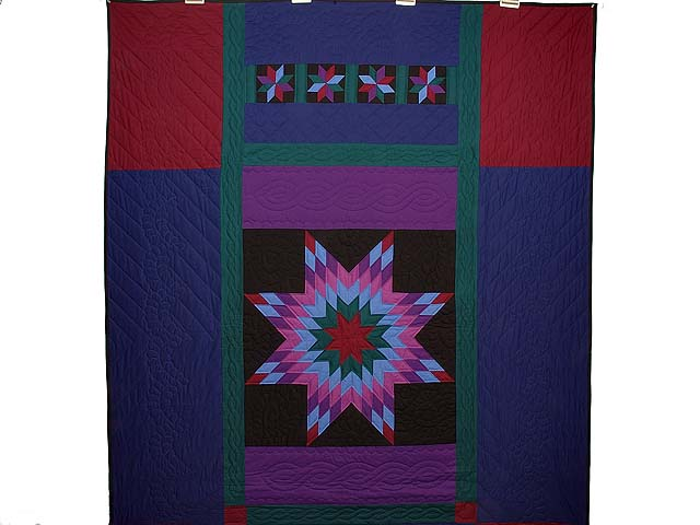 Twin Amish Lone Star Quilt Photo 2