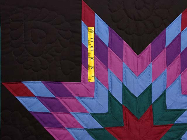 Twin Amish Lone Star Quilt Photo 4