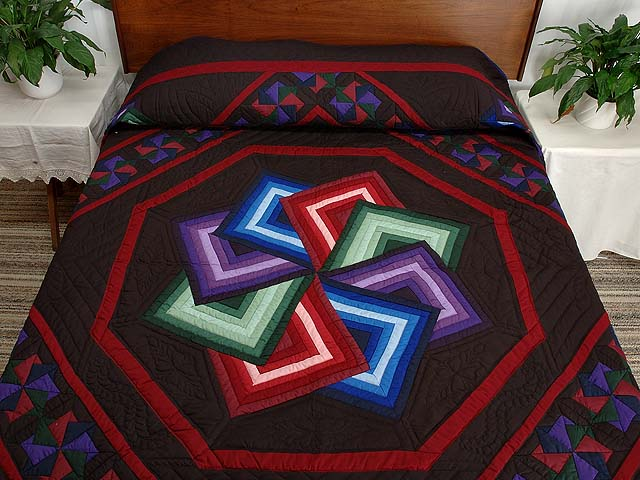 Star Spin Quilt -- marvelous ably made Amish Quilts from Lancaster ... : amish star spin quilt pattern - Adamdwight.com