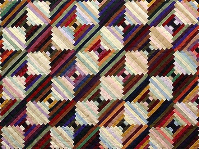 King Almost Amish Log Cabin on the Point Quilt Photo 3