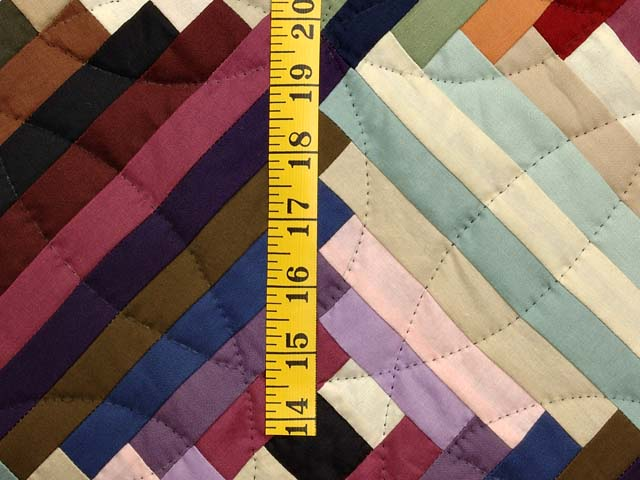 King Almost Amish Log Cabin on the Point Quilt Photo 5
