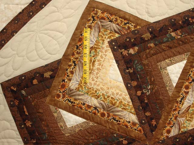 Brown and Gold Star Spin Quilt Photo 5