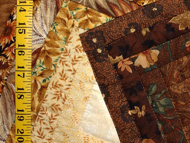 Brown and Gold Star Spin Quilt Photo 6