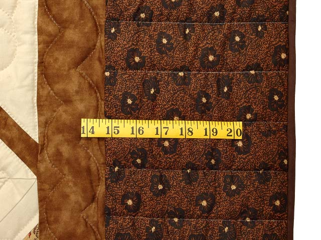 Brown and Gold Star Spin Quilt Photo 7