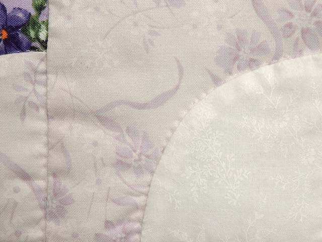 Lavender Green and Cream Ocean Wave with Hearts Quilt Photo 6