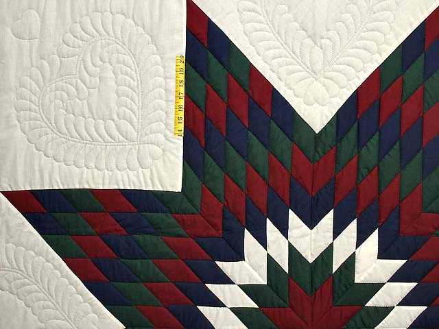 Amish Bright Lone Star Quilt Photo 4