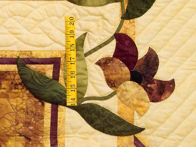 Gold Plum and Green Rainbow Reflections Quilt Photo 5