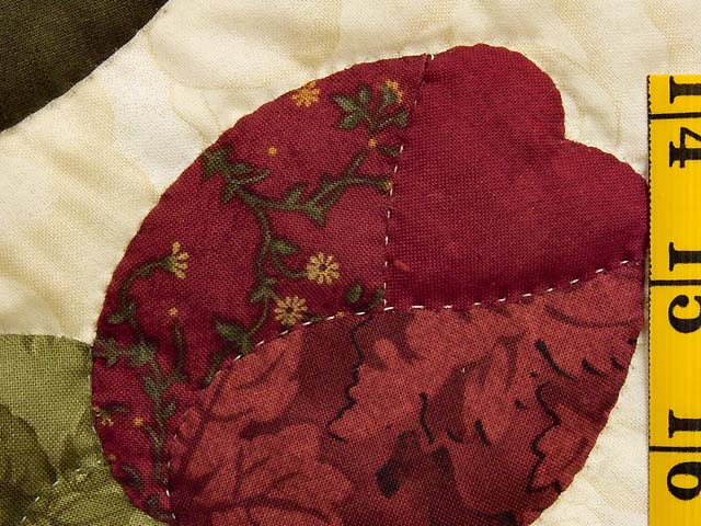 Gold Rose and Burgundy Spring Basket Quilt Photo 6