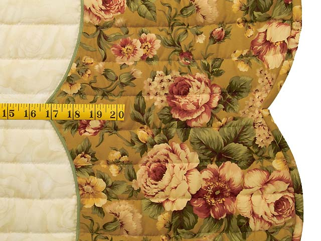 Gold Rose and Burgundy Spring Basket Quilt Photo 8