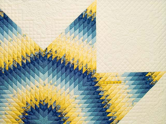 King Blue and Yellow Lone Star Country Bride Quilt Photo 4