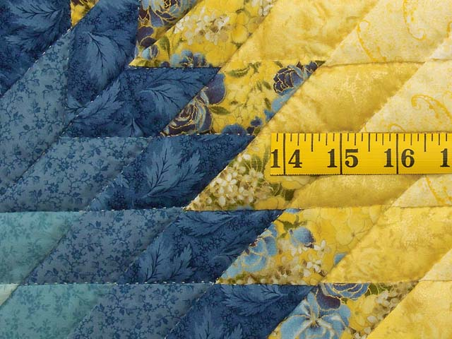King Blue and Yellow Lone Star Country Bride Quilt Photo 5