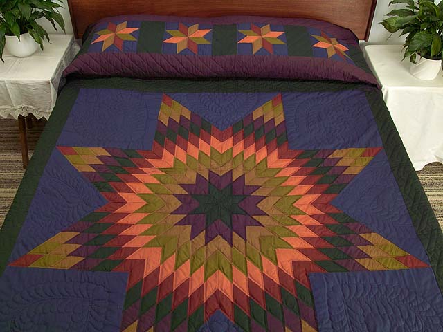 Almost Amish Lone Star Quilt Photo 1