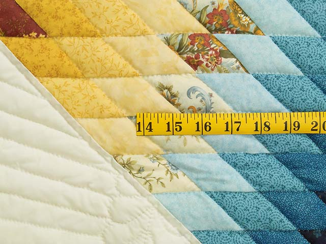 Blue Rose and Yellow Lone Star Country Bride Quilt Photo 5