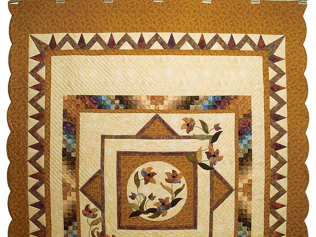 Gold and Plum Rainbow Reflections Quilt Photo 2
