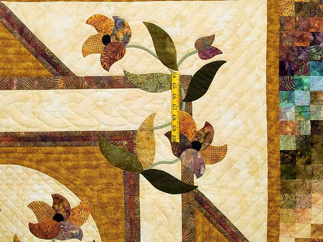 Gold and Plum Rainbow Reflections Quilt Photo 4