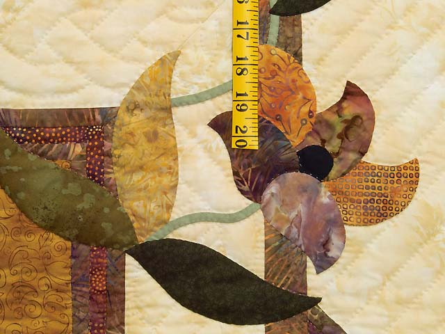 Gold and Plum Rainbow Reflections Quilt Photo 5